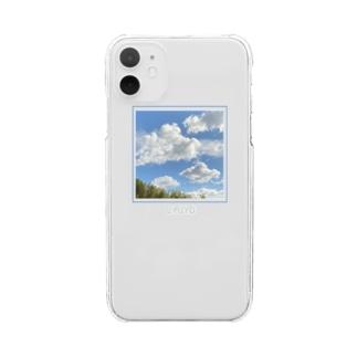 ある晴れた日の空シリーズ Clear smartphone cases