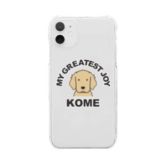 おなまえefrinmanのサンプル(コメ) Clear smartphone cases