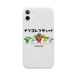 ROBOBO「インコレンジャー」 Clear smartphone cases