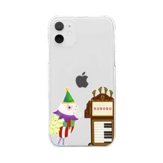 ROBOBO 紙芝居屋さん Clear smartphone cases