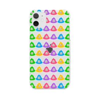 ウンコシリーズ Clear smartphone cases