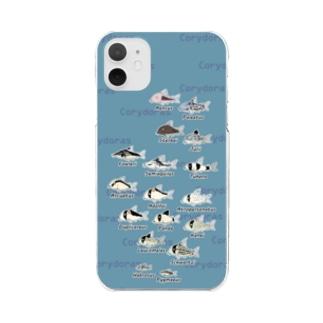 コリドラス大集合パート2 -Corydoras- Clear smartphone cases