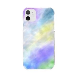 雨の日の記憶 #パープル・グレージュ Clear smartphone cases