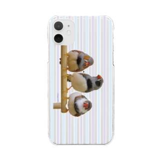 3羽キンカ(すとらいぷ) Clear smartphone cases