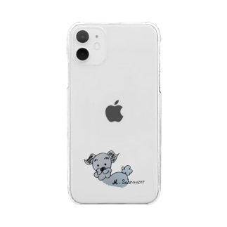 l ♡ ミニシュナ Clear smartphone cases