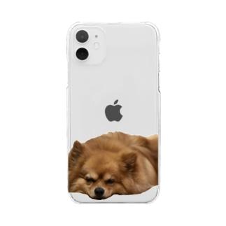 ぺしゃんこ39スマホケース Clear smartphone cases