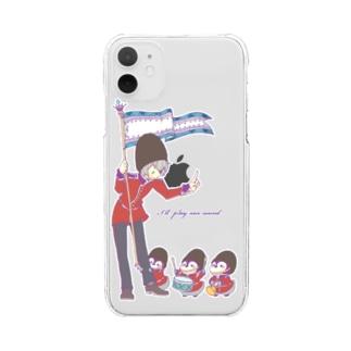ペンギンと一緒 Clear smartphone cases