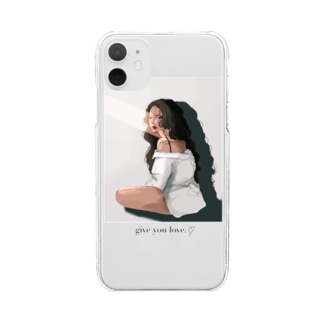 give you Love.♡ Clear smartphone cases