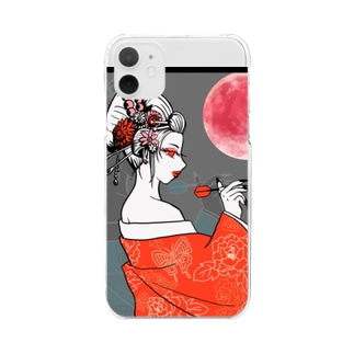 SWEET&SPICY 【すいすぱ】の花魁ダーツガール🎯紅月 Clear smartphone cases