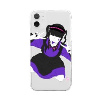 「闇エモメイド」クリアスマホケース Clear smartphone cases