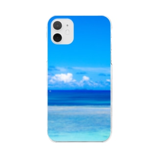 Healing Blue Clear smartphone cases