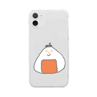 Orange rice ball boy Clear smartphone cases