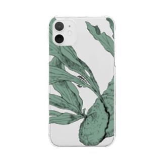 自由に育つビカクシダ Clear smartphone cases