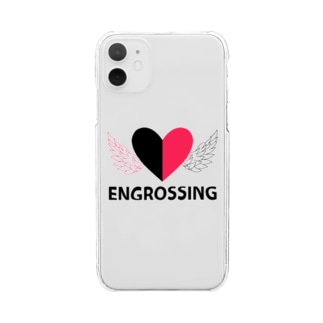 イングロスィンブラック Clear smartphone cases