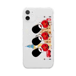 近衛兵な文鳥ちゃんず Clear smartphone cases