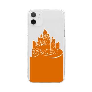 [#人間は意識の高い野性であろう]01 Clear smartphone cases