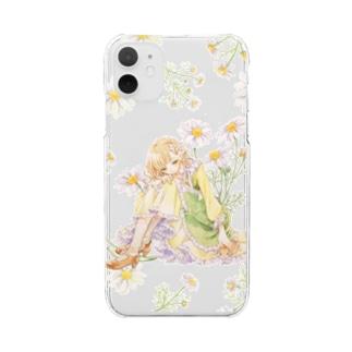 カモミール Clear smartphone cases