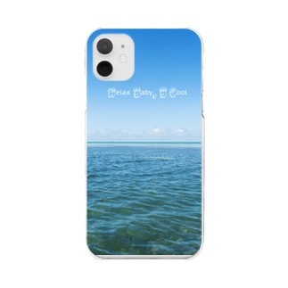 RELAX BABY, B COOL! Clear smartphone cases