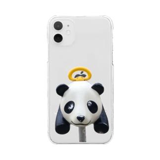 遊具〈パンダ〉 Clear smartphone cases