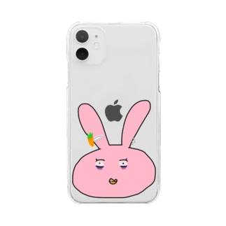幼児退行ぅさぃさん Clear smartphone cases