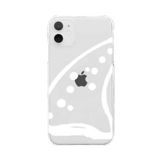 オカリナ奏者の勝負ケース Clear smartphone cases