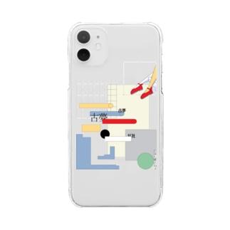 プールサイド愛フォンケース Clear smartphone cases