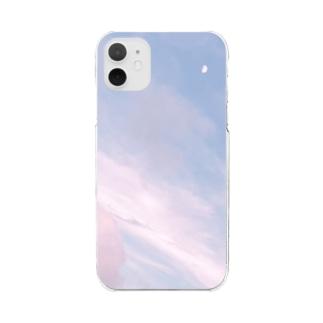 夏の空 いちごシロップ🍓 Clear smartphone cases
