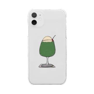 メロンフロート Clear smartphone cases
