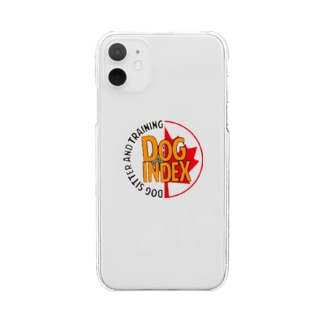 Dog indexサークル Clear smartphone cases