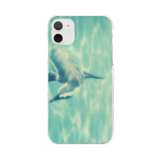 Petrichorの飛ぶペンギン Clear smartphone cases