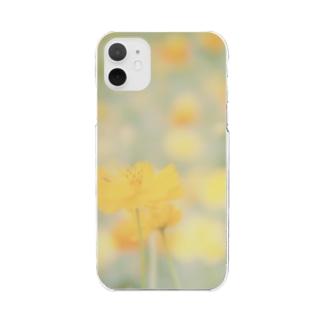 キバナコスモス Clear smartphone cases