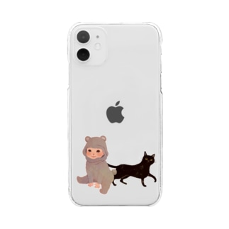 BearBaby&Cat Clear smartphone cases