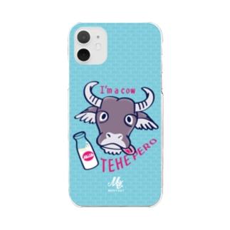 *suzuriDeMonyaa.tag*の CT78水牛くんB*C Clear smartphone cases