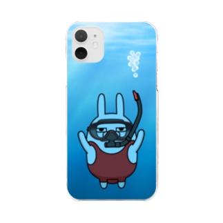 擦れうさぎダイビング Clear smartphone cases