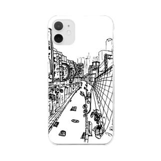 まちなみ2 Clear smartphone cases