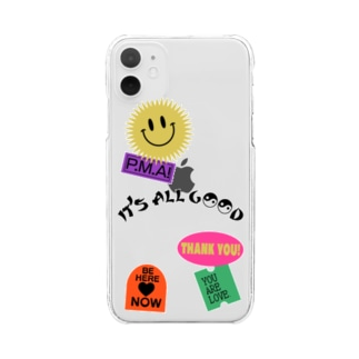 POSITIVE STICKER CUSTOM Clear smartphone cases