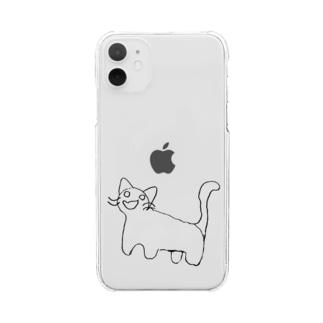 にゃは Clear smartphone cases