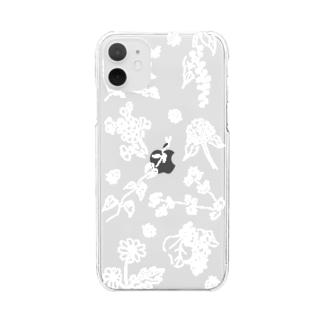 9種の草花 Clear smartphone cases