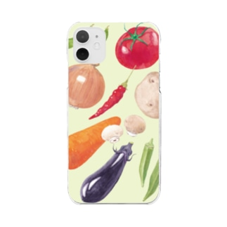 VEGETABLE Clear smartphone cases