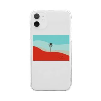 椰子の木 Clear smartphone cases