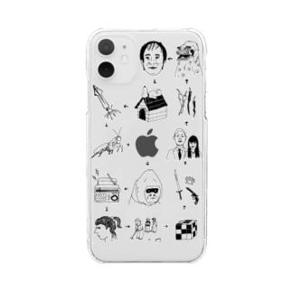 絵しりとり Clear smartphone cases