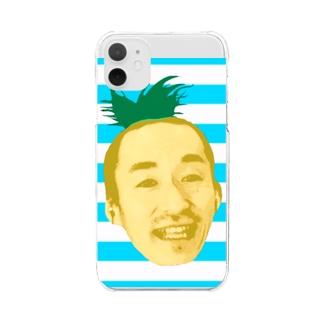 サティパイナポヘアシリーズ bikke作成 Clear smartphone cases