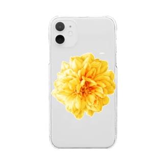 花@Yellow Rose Clear smartphone cases