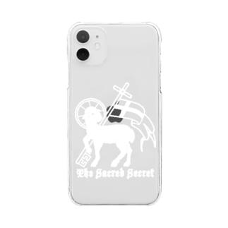 神の子羊 Clear smartphone cases