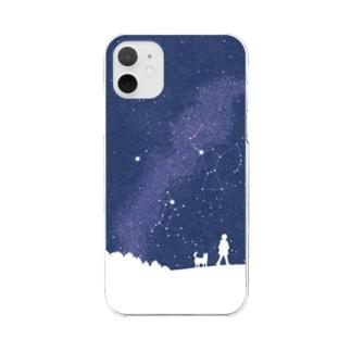 冬の大三角 Clear smartphone cases