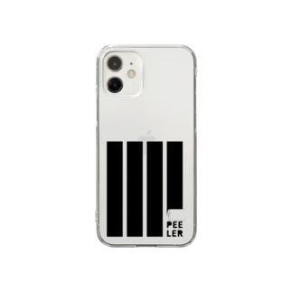 PEELER-08(BK) Clear smartphone cases