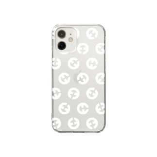 臼臼スマホケース白 Clear Smartphone Case