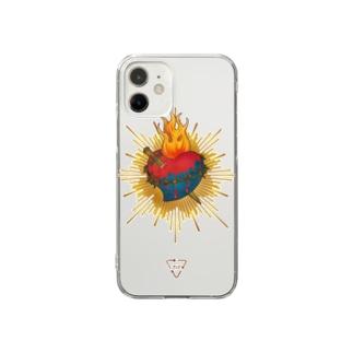 710のSacred Heart Clear smartphone cases