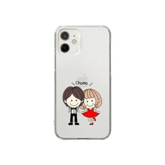 CHAMA×おめかし Clear Smartphone Case