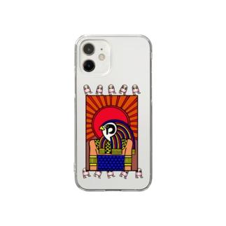 エジプト神様とメジェド様 Clear smartphone cases